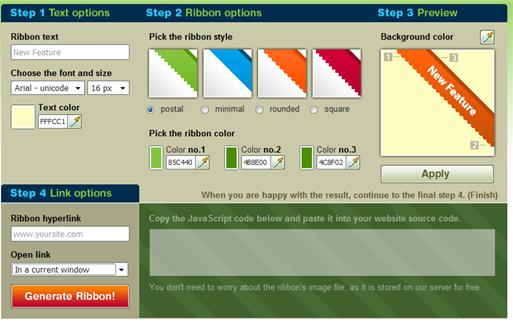 Online Ribbon Generator – Graphic Design Blog