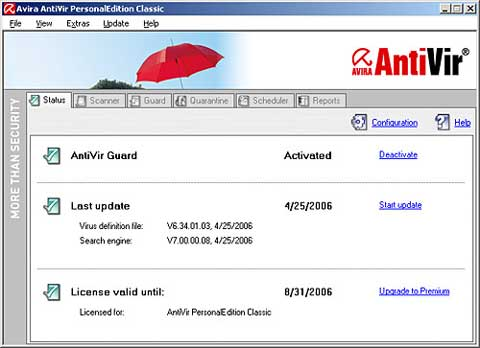 AntiVir Antivirus software