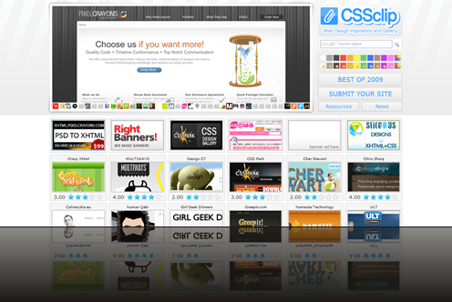 CSSclip - web design inspiration and gallery_1238012915185