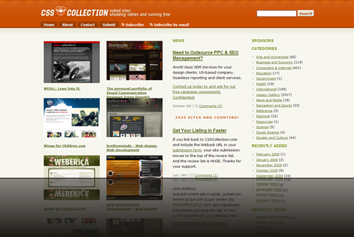 CSS Collection - Showcasing CSS Websites._1238015488178
