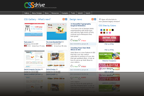 CSS Drive- Categorized CSS gallery and examples._1238015995026
