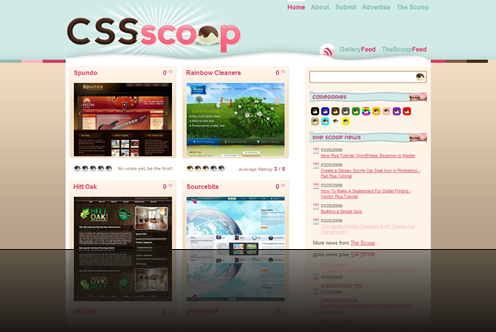 CSS Scoop - CSS Gallery - Categorized CSS Gallery and Website Design Inspiration - CSS Scoop_1238013185020