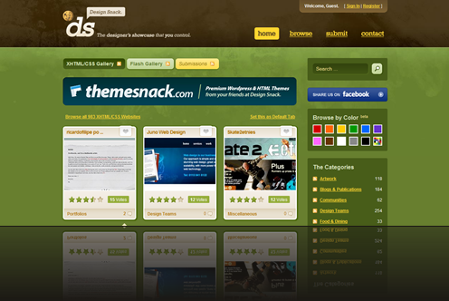 Design Snack - The design showcase that you control - CSS, XHTML and Flash Inspiration Gallery_1238007013216