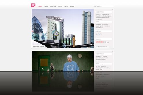 irie · Web Design Awards - Best Websites daily fresh · featuring 601 outstanding websites_1238013029805
