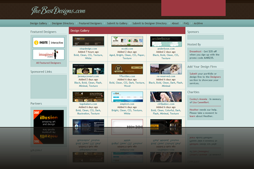 The Best Designs - The Best Flash and CSS Web Design - Web Design Awards_1238006736919