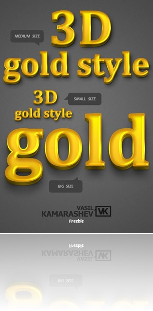 3d@20gold@20style