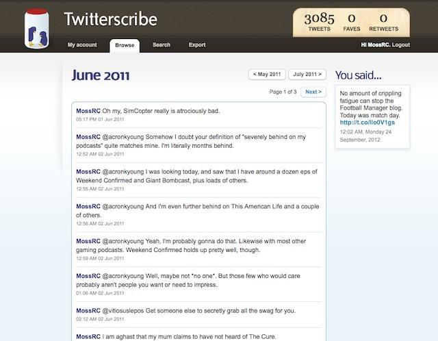 twitterscribe